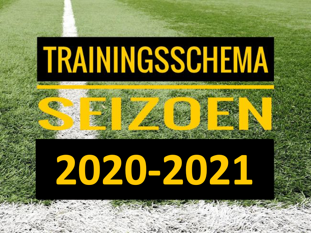 (Concept) Trainingsschema volgend seizoen bekend