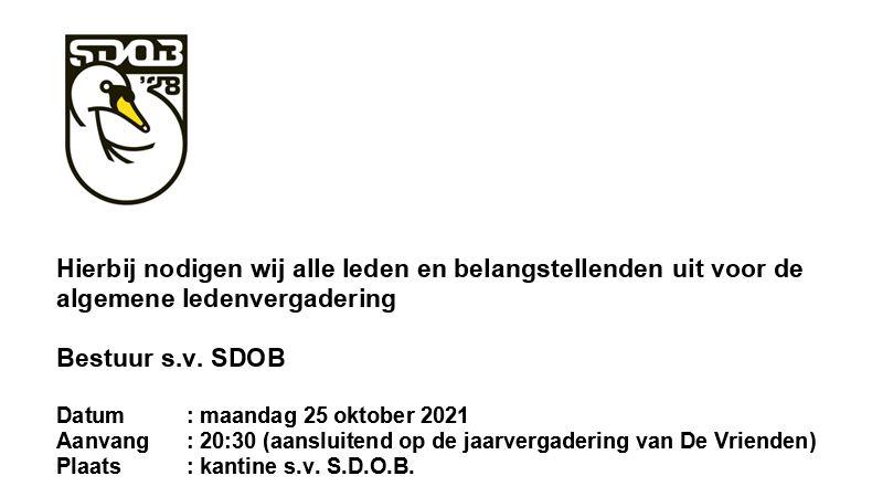 Jaarvergadering 25 oktober 2021: Uitnodiging en agenda