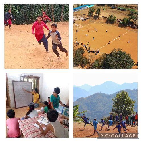 Krijn traint jeugd in  Nepal