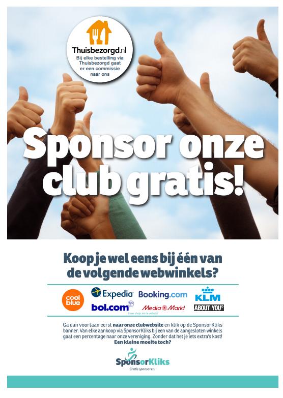 SponsorKliks: sponsor SDOB zonder dat het jou iets kost!